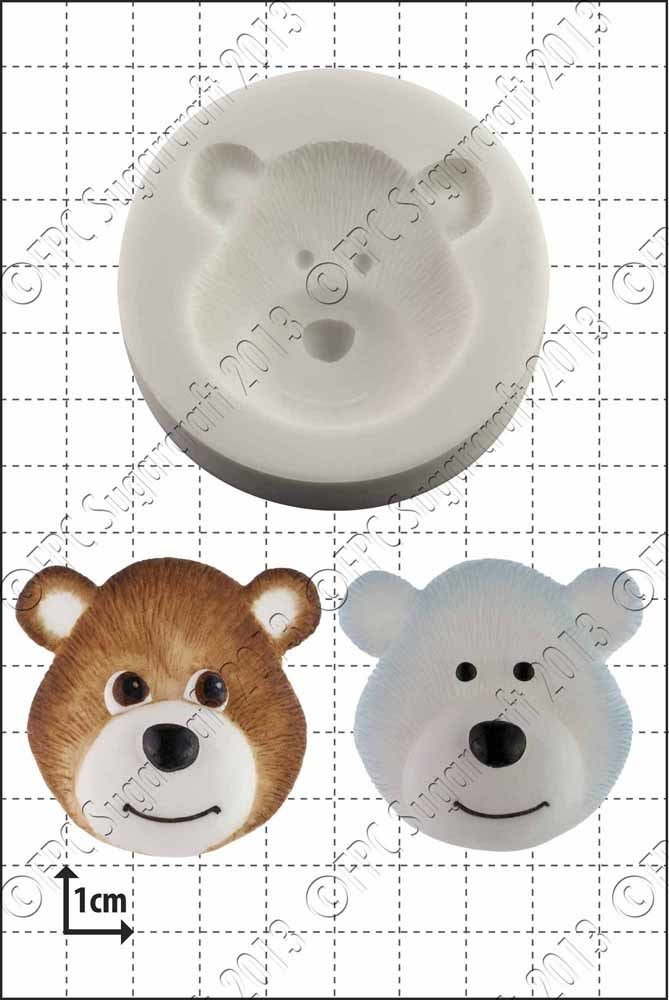 SALE!!! FPC Silicone Mould -BEAR HEAD -Καλούπι Σιλικόνης Κεφάλι Αρκούδας