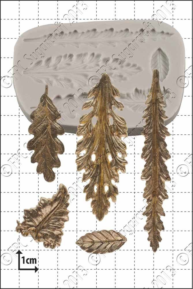 FPC Silicone Mould -DECORATIVE LEAVES -Καλούπι Διακοσμητικά Φύλλα