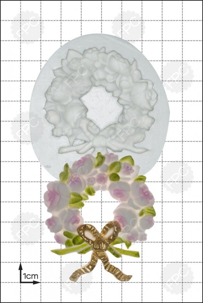 SALE!!! FPC -Silicone Mould -ROSE WREATH - Καλούπι Σιλικόνης Στεφάνι με Τριαντάφυλλα