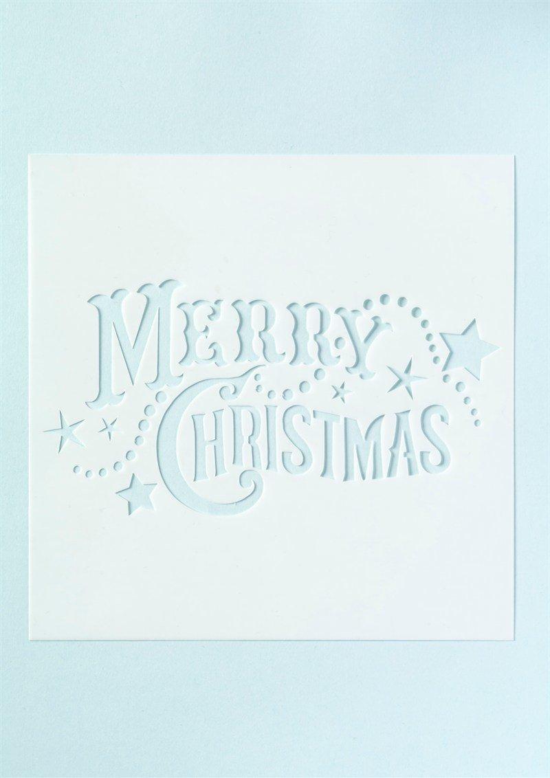 Cake Star Stencil  'Merry Christmas' -Στένσιλ