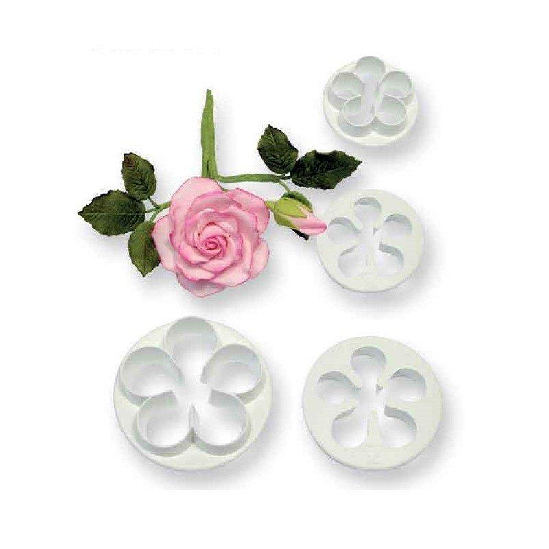 PME 5 Petal Cutters -SMALL set of 4 -Σετ 4τεμ Κουπ πατ Μικρό Λουλούδι με 5 Πέταλα