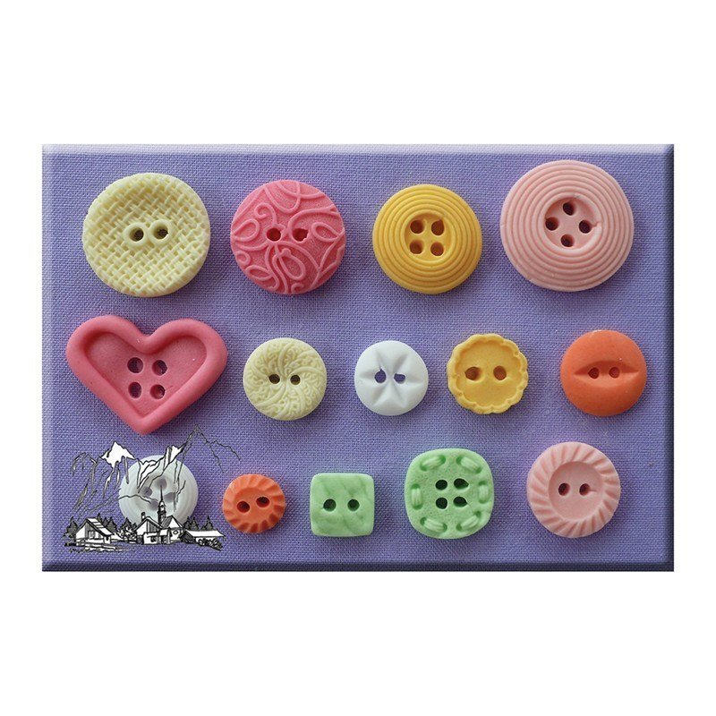 Alphabet Moulds -PATTERNED BUTTONS -Καλούπι Κουμπιά με Σχέδια