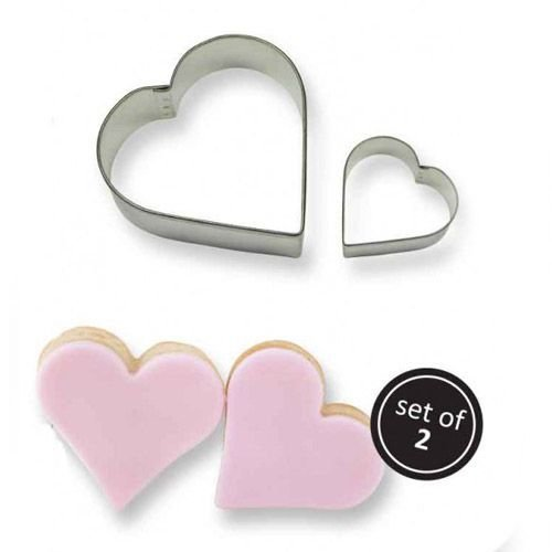 PME Cookie Cutters -Set of 2 -HEARTS -Σετ 2τεμ Κουπ πατ Καρδιές