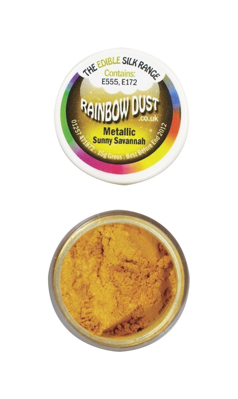 Rainbow Dust Edible Dust -Metallic SUNNY SAVANNAH -Βρώσιμη Σκόνη Μεταλλική Χρώμα Κίτρινο του Ήλιου