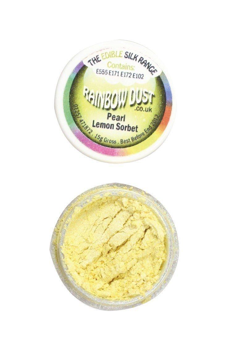 Rainbow Dust Edible Dust -Pearl LEMON SORBET -Βρώσιμη Σκόνη Περλέ Σορμπέ Λεμόνι