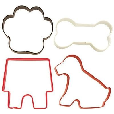Wilton Cookie Cutter Set of 4 -PET DOG THEMED - Σετ 4τεμ Κουπ πατ με Θέμα Σκυλάκι