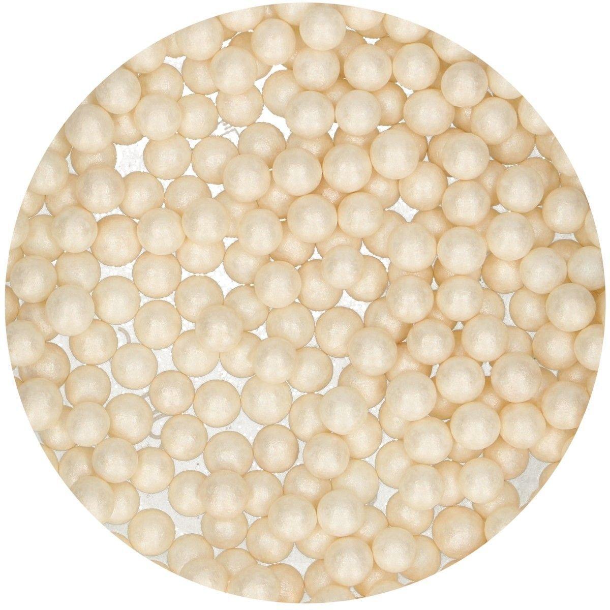 FunCakes Sugarballs -7mm WHITE MAXI 80g - Ζαχαρωτά Μπιλίτσες/Πέρλες Μεγάλες Λευκές