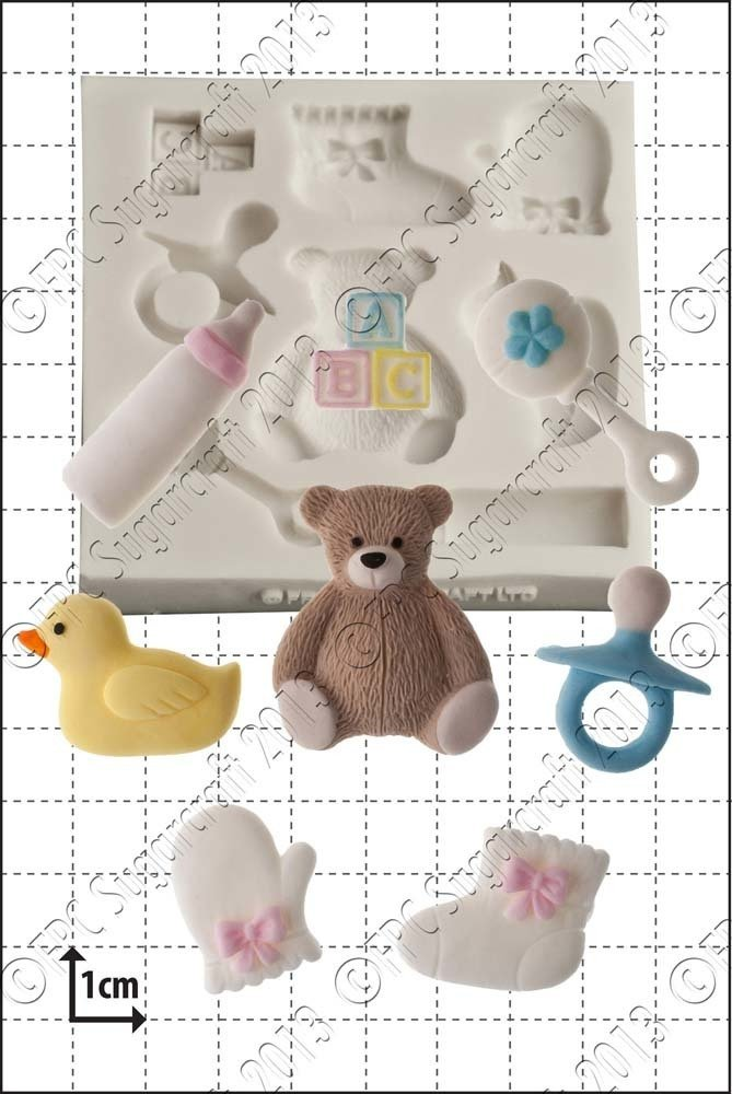 FPC Silicone Mould -BABY SHOWER -Καλούπι Μωρουδιακά