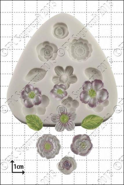 FPC Silicone Mould -FLOWER DECORATIONS -Καλούπι Διακοσμητικά Λουλουδάκια