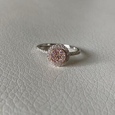Pink Diamond Cluster Ring