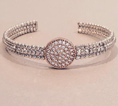 Italian Beaded Cuff Bracelet
