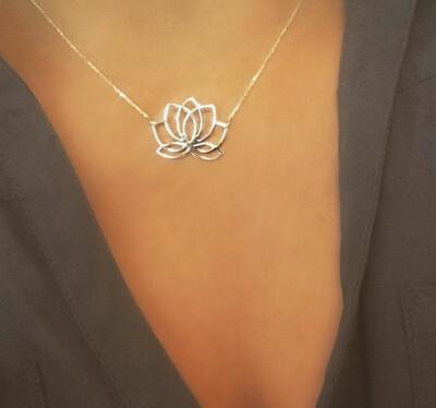 ALJ Signature  Lotus Necklace