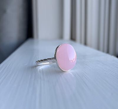 Rose Quartz Braided Ring
