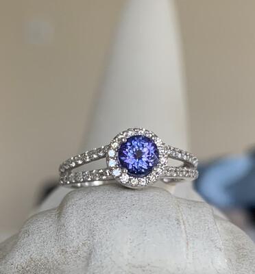 Penny Lane Tanzanite And Diamond Ring