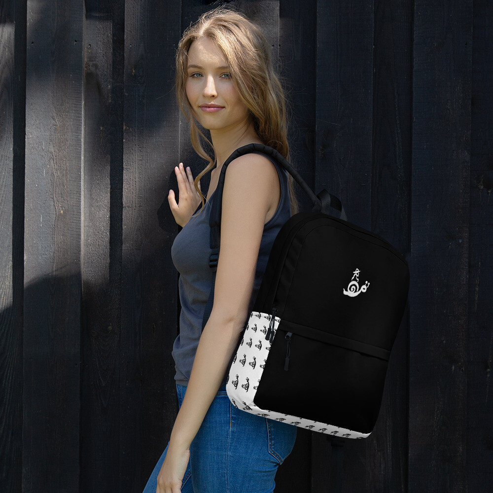 OMOiOMO Logo Knapsack in Black