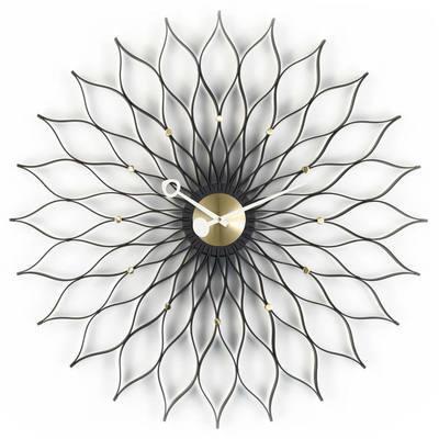 Vitra Sunflower Black Ash Clock