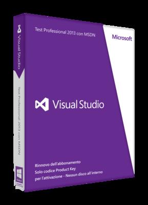 Visual Studio Test Professional con abbonamento MSDN biennale rinnovo