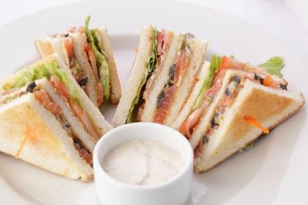 Мини сэндвич с семгой, 20 шт.