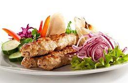 Люля кебаб из свинины и говядины, 10 шт.