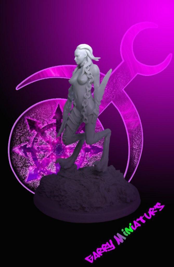 Slaanesh Demonette 75mm resin figure by Garry Miniatur's