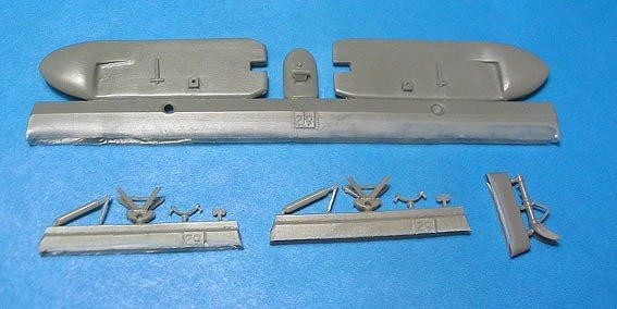 1/48 LaGG-3 Skis and Bomb Racks Vector resin for ICM: VDS48034