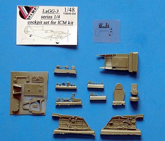 1/48 LaGG-3 cockpit set Vector resin for ICM: VDS48018