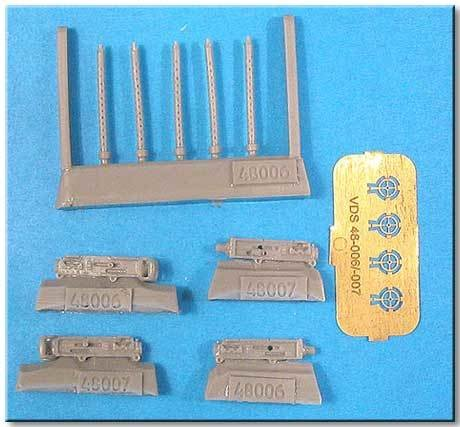 1/48 Browning M2 0.3 Cal Round Perforation Vector resin: VDS48006