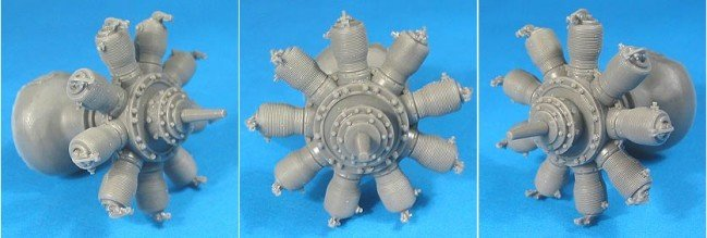 1/32 Gnome Monosoupape Engine Vector Resin #32-010