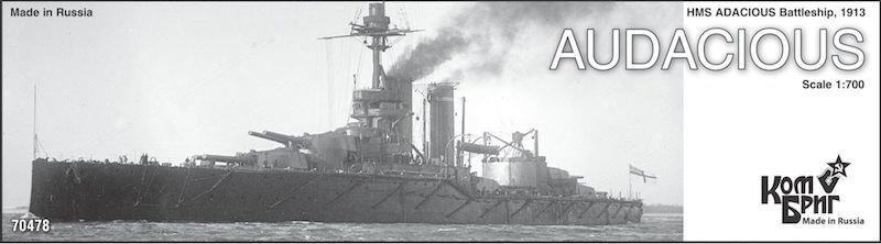 Combrig 1/700 Battleship HMS Audacious, 1913, resin kit #70478PE