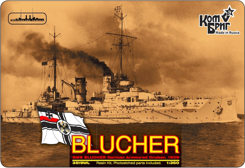 Combrig 1/350 German Armored Cruiser SMS Blucher, 1909, resin kit #3519WL