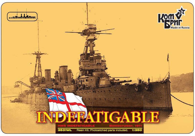 Combrig 1/350 Battlecruiser HMS Indefatigable, 1911, resin kit #3531FH