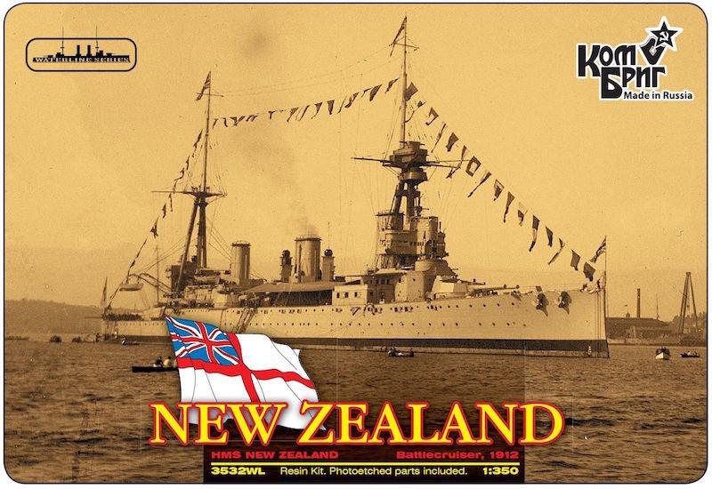 Combrig 1/350 Battlecruiser HMS New Zealand, 1912, resin kit #3532FH
