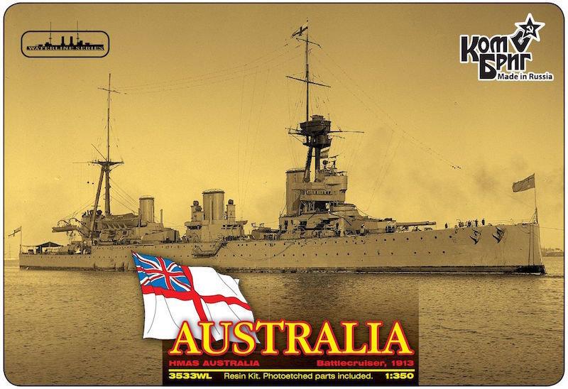 Combrig 1/350 Battlecruiser HMAS Australia, 1913, resin kit #3533FH