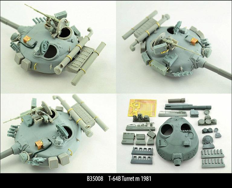 Miniarm 1/35 T-64B Turret m 1981, includes PE part