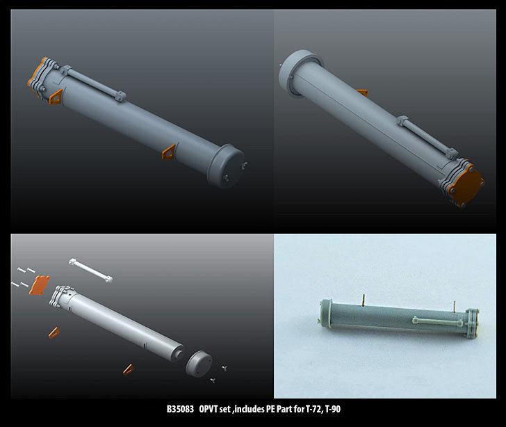 Miniarm 1/35 OPVT set, includes PE Part for T-72, T-90