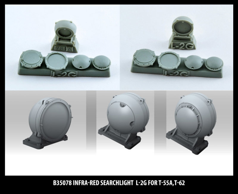 Miniarm 1/35 Infra-red searchlight L-2G for T-10M,T-55A,T-62
