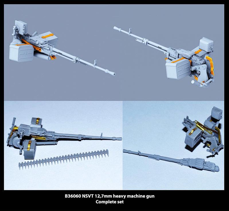 Miniarm 1/35 NSVT 12,7mm heavy machine gun + fastening and PE parts