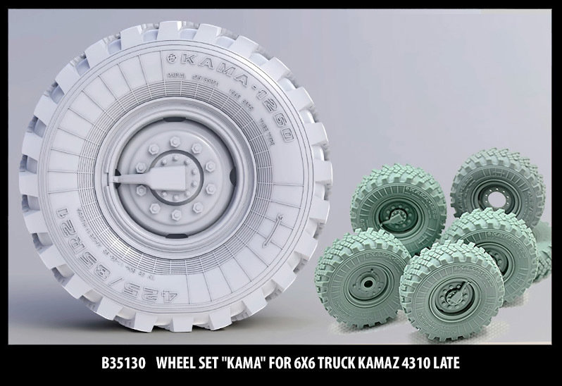Miniarm 1/35 Wheel set Kama for 6X6 Truck Kamaz 4310 late