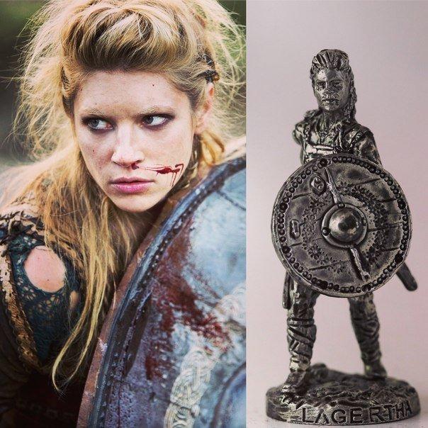 40mm Lagertha Shieldmaiden, Vikings metal miniature