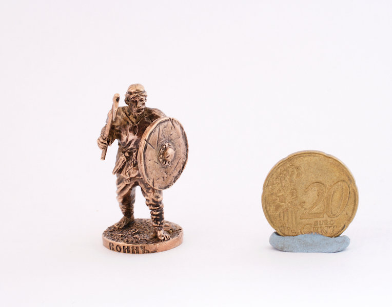 40mm Viking Militia Warrior brass metal miniature