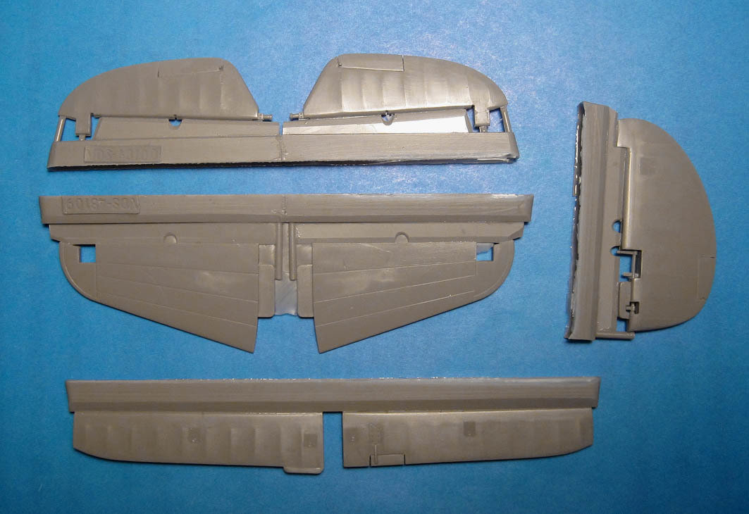 1/48 P-40E/N control surfaces (Hasegawa) Vector Resin #VDS48-109