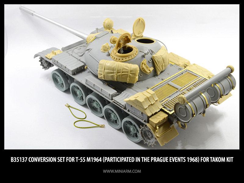 Miniarm 1/35 Converstion set Т-55 m1964 (Prague events 1968) for Takom kit #B35137