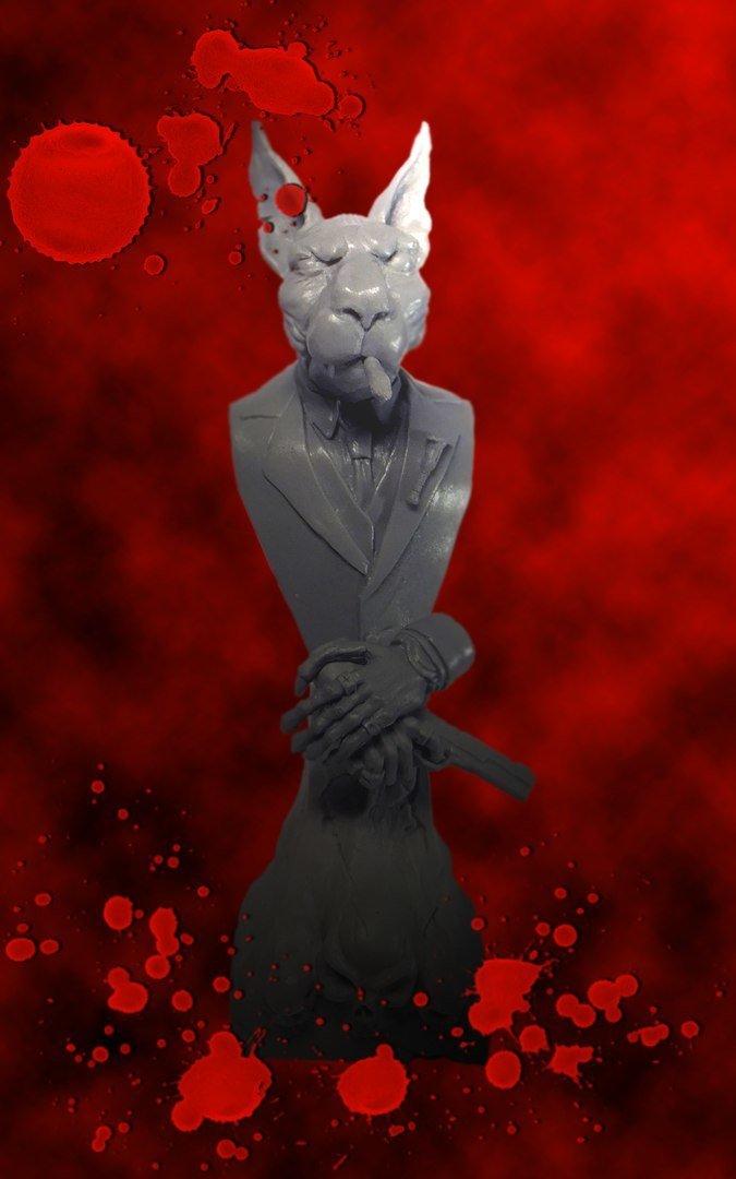 Cat Assassin 1/10 resin bust by Garry Miniatur's