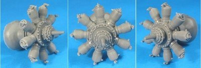 1/32 Gnome Monosoupape Engine Vector Resin #32-010