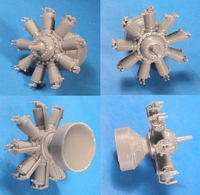 1/32 Clerget 9 WWI Engine Vector Resin #32-014