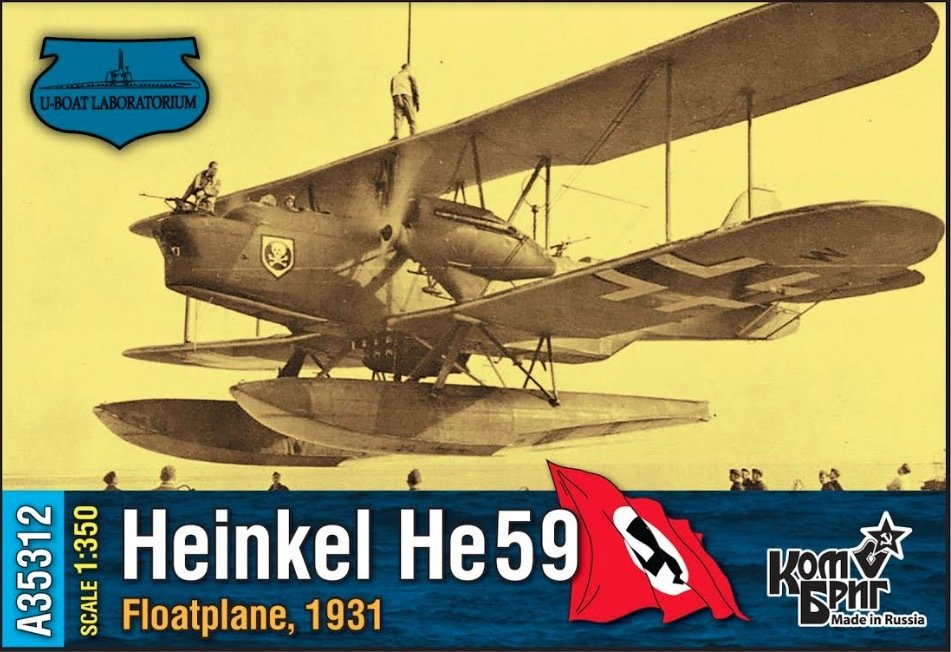 Combrig 1/350 Heinkel He-59 Floatplane, 1931 (1 only), resin kit #A35312