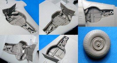 1/48 MiG-3 wheel wells and wheels (Trumpeter) Vector resin #VDS48-121