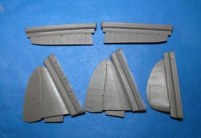 1/48 MiG-3 control surfaces (Trumpeter) Vector resin #VDS48-122