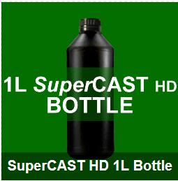 SuperCAST-HD 1 Liter, Dark Green 3D UV Resin for direct casting