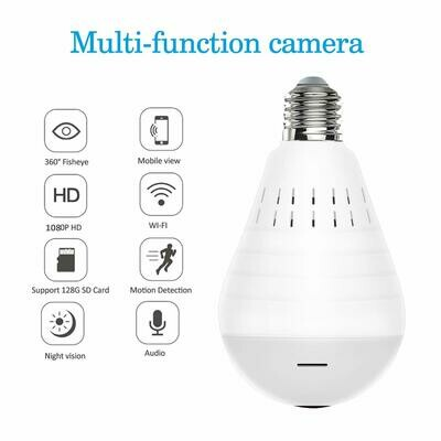 WIFI 1.3MP Bulb Panoramic wireless camera 360 degree view